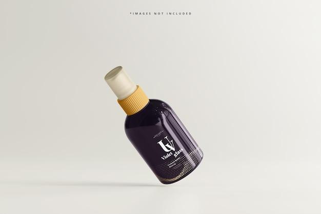 Makieta kosmetycznych butelek z rozpylaczem uv