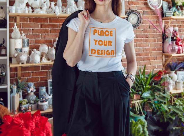 Makieta koszulki dla dziewczynki