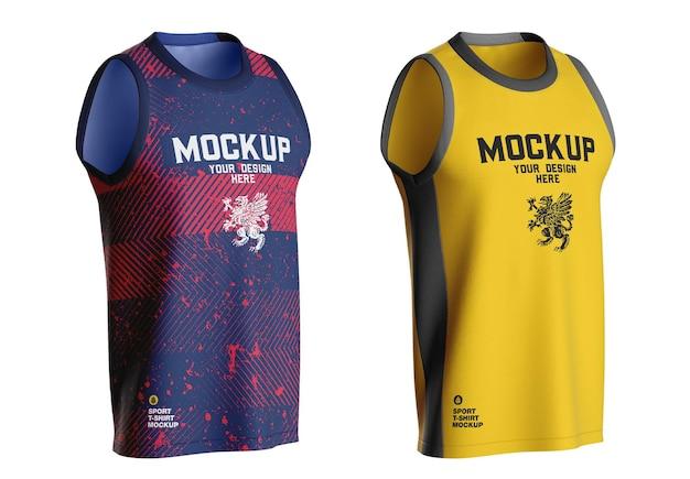 Makieta koszulki do koszykówki