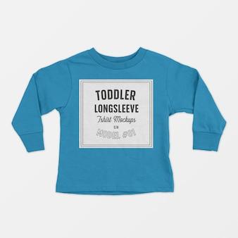 Makieta koszulki z długim rękawem dla malucha
