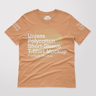 Makieta koszulki z krótkim rękawem unisex z polibawełny