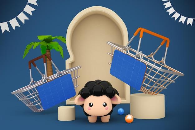 Makieta koszyka na zakupy adha