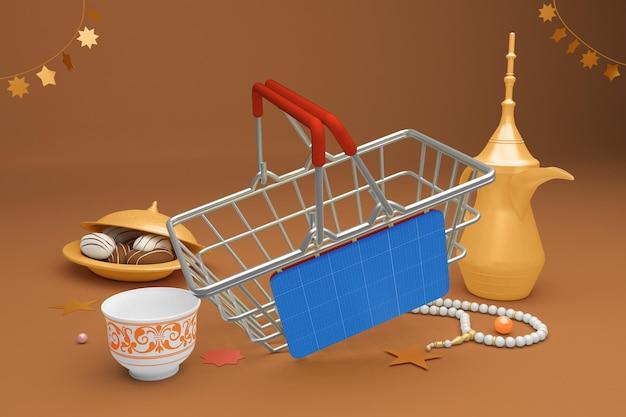 Makieta koszyka na zakupy eid