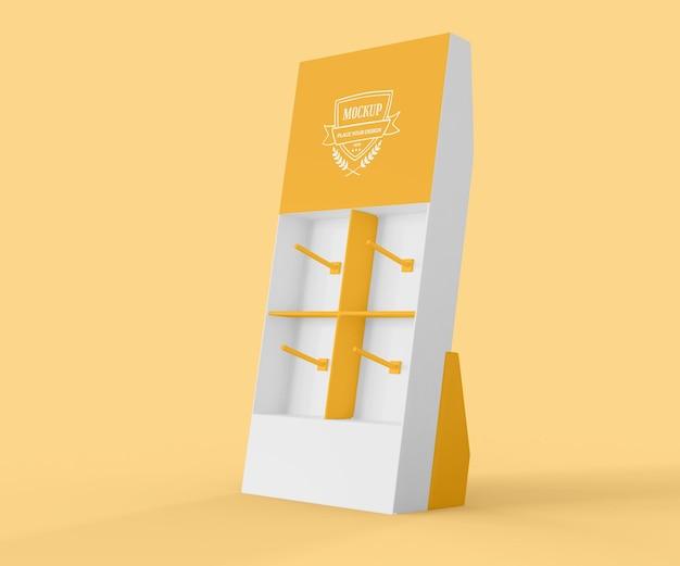 Makieta kreatywnego żółtego wystawcy