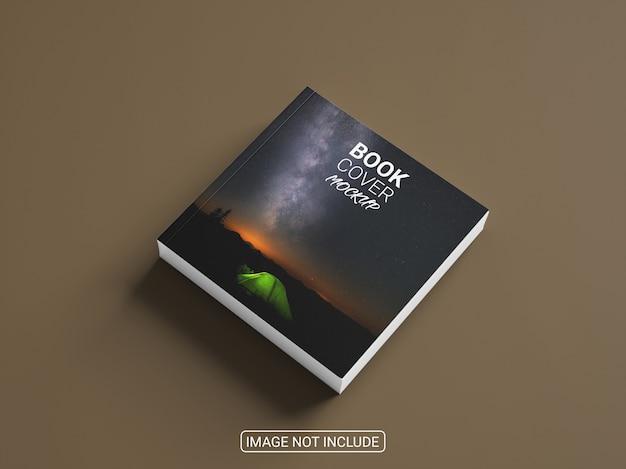 Makieta kreatywnej kwadratowej książki w twardej oprawie