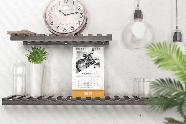 Makieta kreatywnych makieta biurka pionowego