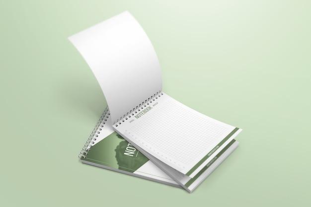 Makieta kreatywnych notebooków