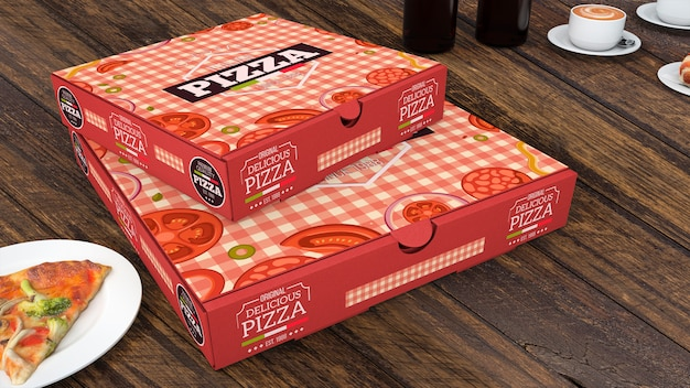 Makieta Kreatywnych Pudełka Pizzy Darmowe Psd