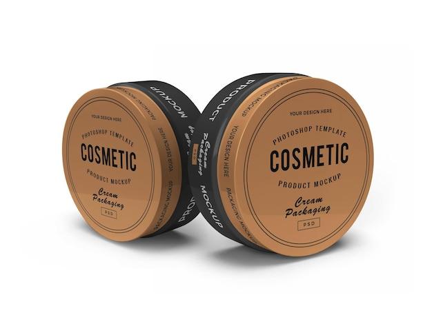 Makieta kremowego słoika kosmetycznego 3d