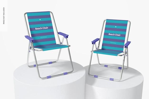 Makieta krzeseł plażowych