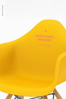 Makieta krzesła dla dzieci z nowoczesnej tkaniny, zbliżenie