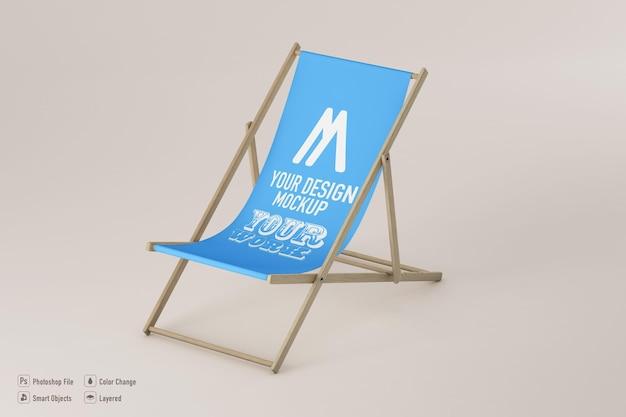 Makieta krzesła plażowego na białym tle