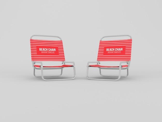 Makieta krzesła plażowego