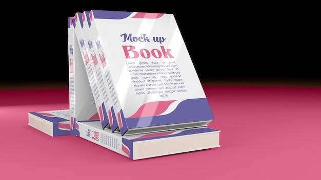 Makieta książki 3d ze wszystkich kierunków i widoków