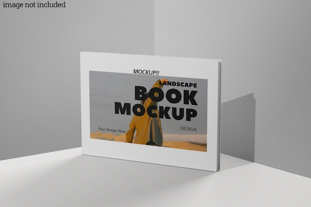 Makieta książki krajobrazowej
