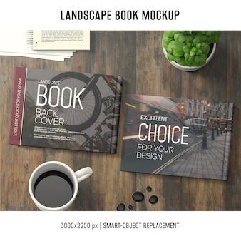 Makieta książki lanscape