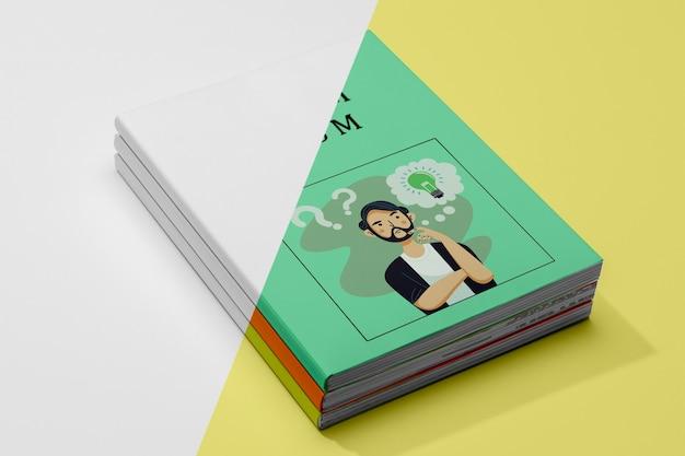 Makieta książki pod dużym kątem