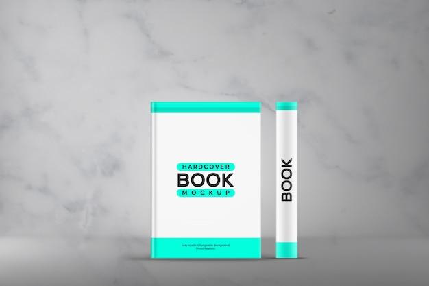 Makieta książki w twardej okładce z przodu i z boku