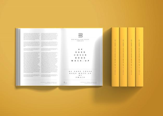 Makieta książki w twardej oprawie a4