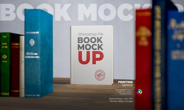 Makieta książki w twardej oprawie z widokiem z przodu