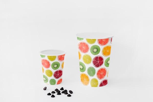 Makieta kubek jogurt