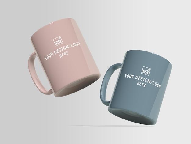 Makieta kubka do kawy dla merchandisingu