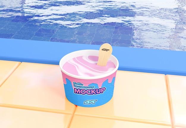 Makieta kubka do lodów