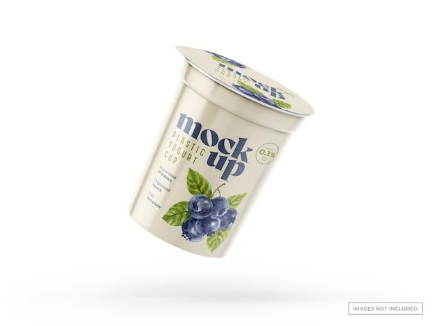 Makieta kubka jogurtu