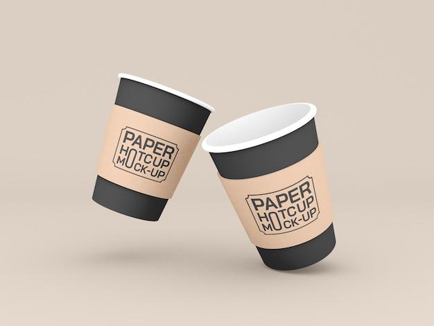 Makieta kubków do kawy