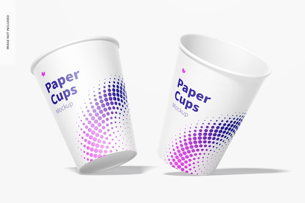 Makieta kubków papierowych