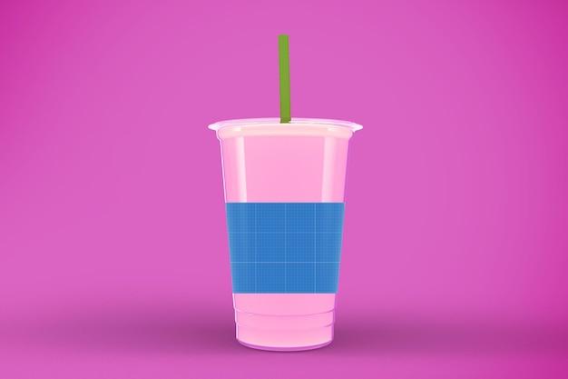 Makieta kubków soków