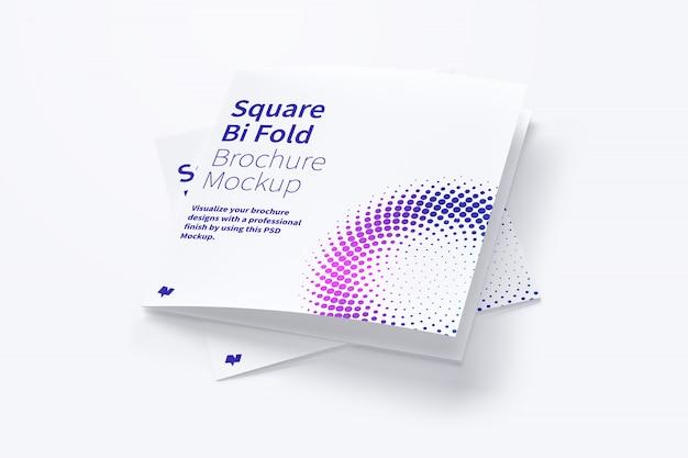 Makieta kwadratowa broszura bi krotnie