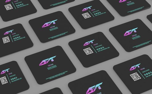 Makieta kwadratowa wizytówka