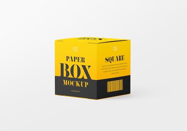 Makieta kwadratowego pudełka papierowego