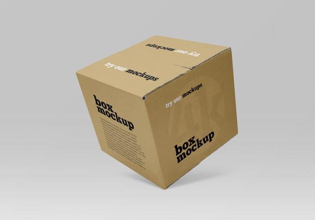 Makieta kwadratowego pudełka z papieru