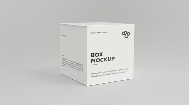 Makieta kwadratowego pudełka