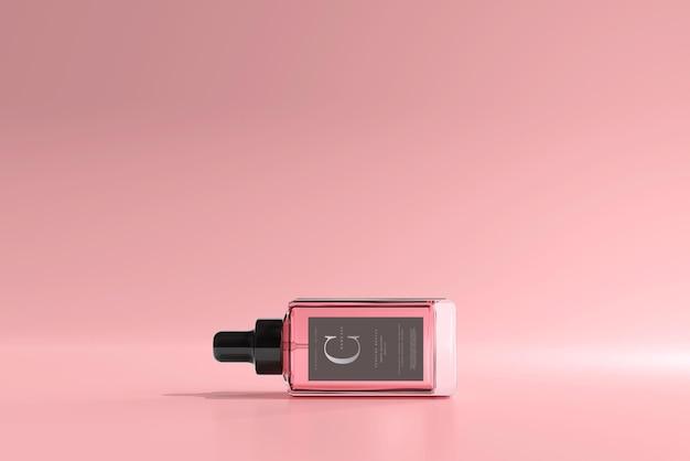 Makieta kwadratowej butelki perfum