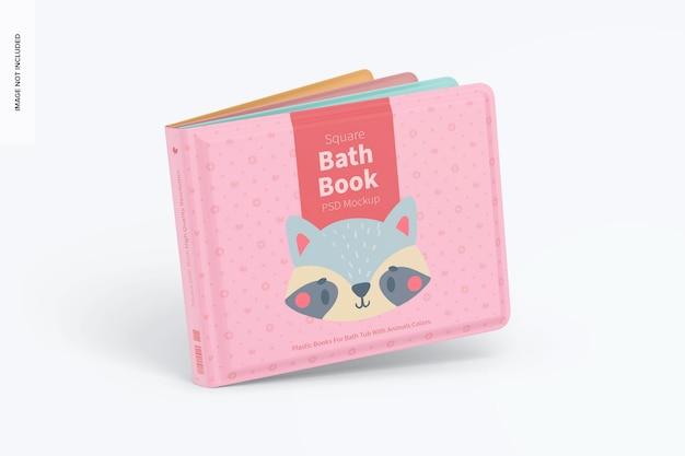 Makieta kwadratowej książki do kąpieli