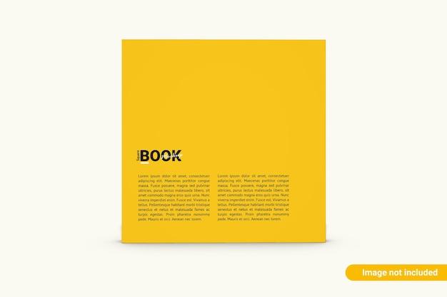 Makieta kwadratowej książki na białym tle