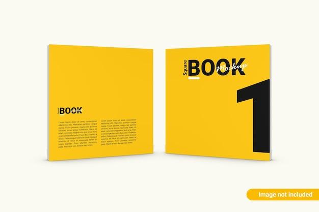 Makieta Kwadratowej Książki Na Białym Tle Premium Psd