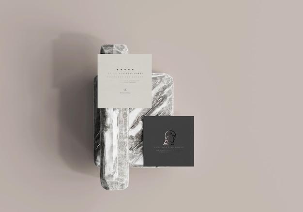 Makieta kwadratowej wizytówki