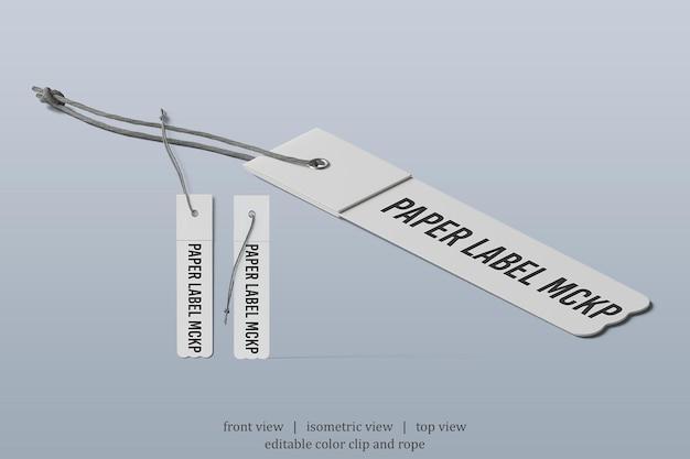 Makieta kwadratowych etykiet z różnymi punktami widzenia