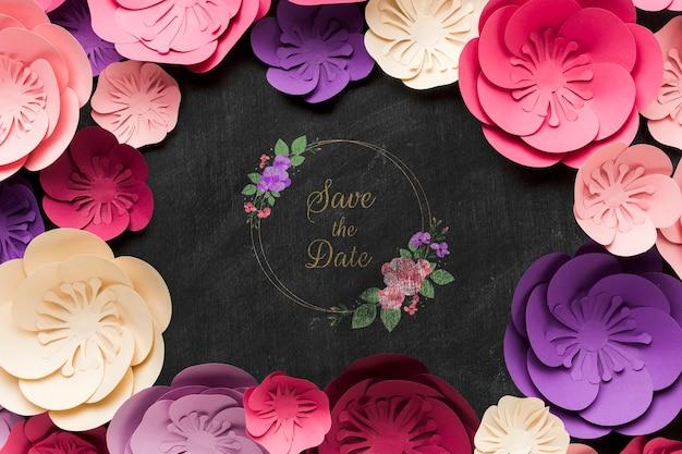 Makieta kwiatowy wesele koncepcja