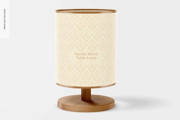 Makieta lampy stołowej z drewna skandynawskiego, widok z przodu