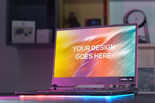 Makieta laptopa do gier
