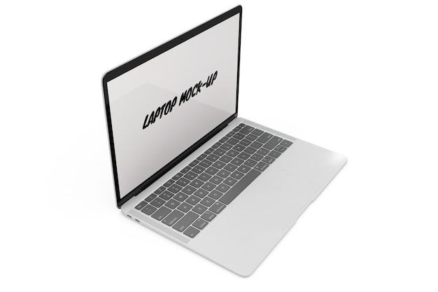 Makieta laptopa na białym tle