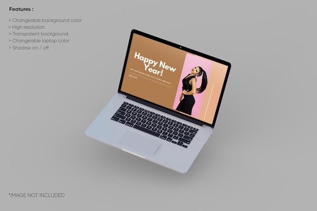 Makieta laptopa na pełnym ekranie