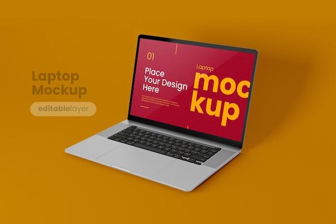 Makieta laptopa premium w minimalistycznym stylu