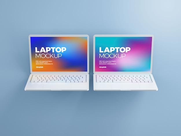 Makieta laptopa z edytowalnym kolorem tła