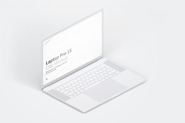 Makieta laptopa z pustym ekranem